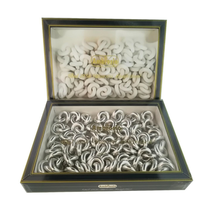 Fedi dell'amore bianche e argento - Ambrosio IDAV Spa